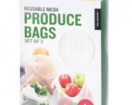 Reusable Mesh Produce Bags  3pcs   code 35396