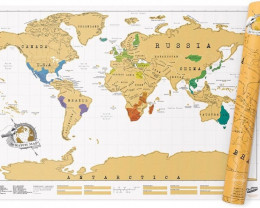 One Free  Map added- Original Scratch Map  half meter long    PR16