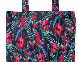 Crimson Foldable Shopper Birds  code 15177