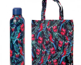 Promotion of Crimson Water Bottle and Foldable Bag codes 15078/15177