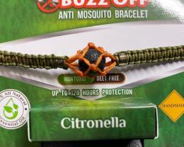 insect Repellent Citronella in lava Stone Bracelet Tan  wrap  code CITBRA