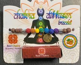 Root  Chakra lava stone  Diffuser Bracelet  Code CHAKDIF
