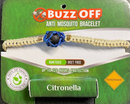 insect Repellent Citronella in lava Stone Bracelet Neutral wrap code CITBRA