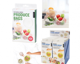 Promotion Reusable Food Wrap and Produce Bags  2pcs code 35396/35397