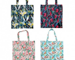 Promotion 4pcs Foldable Shopper Birds assorted  code 15177