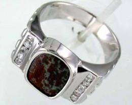 Opal Boulder Silver Ring L1373
