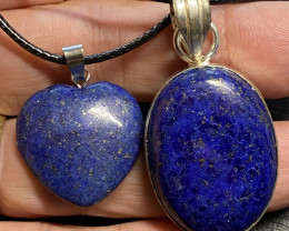 78 cts lapis lazuli-one  Pendant and Heart shape one CCC 220
