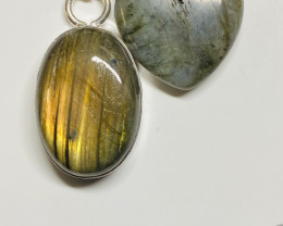 60cts Labradorite pendant and heart shape one CCC 227