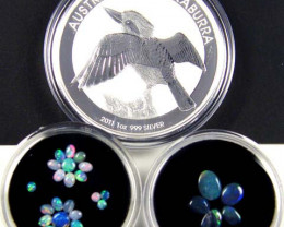 2011 TREASURES OPAL & KOOKABURRA SILVER COIN SERIES 2-100