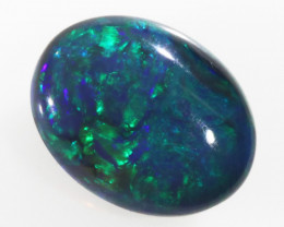 1.7 Cts  Australian Blue Flash   Black Opal SS2000