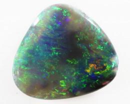 1.10 Cts    Radiante Green Fire Australian  Black Opal  SS1029