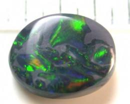 1.5 Cts    Australian  Black Firey Opal  SS1554