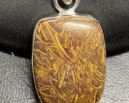 75 cts Caligraphy stone Pendant  CCC 235