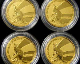 Auction 2007  TREASURES OF AUSTRALIA GOLD 4 X 1/20 OUNCE  SERIES 4-100 (TAG