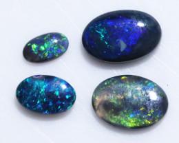 2.1 Cts   Parcel of 4 Australian Black  Opals  L1285