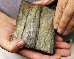 0.994 kilo  Moroccan Pyrite Sleeve Specimen  MM03