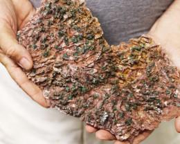 1.339 kilo  Moroccan  malachite on dolomite Specimen  MM33
