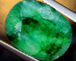 7 CTS   EMERALD COLOUR GLASS CABS   RJA-1419