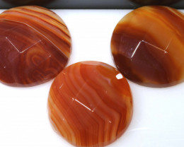 46 CTS NATURAL AGATE FACETED STONE (3 PCS ) RJA-1421