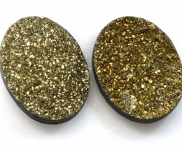 12.70 CTS NATURAL DRUZY STONE (2PC SET)  RJA-1424