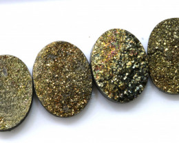 35 CTS  NATURAL DRUZY STONE ( 4 PC SET) RJA-1425