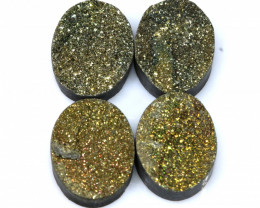 33 CTS  NATURAL DRUZY STONE ( 4 PC SET) RJA-1426