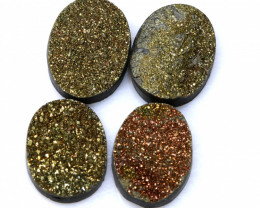 26.5  CTS NATURAL DRUZY STONE (4PC SET)  RJA-1429