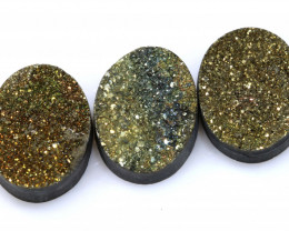 31  CTS NATURAL DRUZY STONE (3PC SET)  RJA-1431