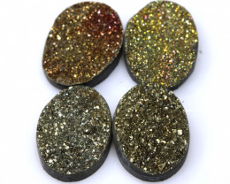 30  CTS NATURAL DRUZY STONE (4PC SET)  RJA-1433