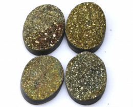 31 CTS NATURAL DRUZY STONE (4PC SET)  RJA-1435