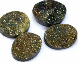 31.50  CTS NATURAL DRUZY STONE (4PC SET)  RJA-1436