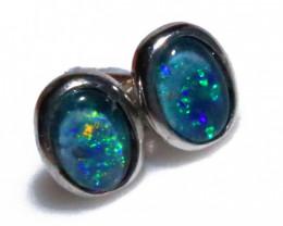Gem Opal triplet Silver Earrings   NA 730