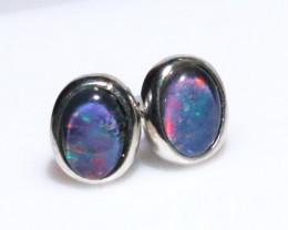 Gem Opal triplet Silver Earrings   NA 731