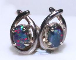 Gem Opal triplet Silver Earrings   NA 732