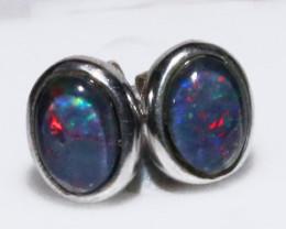 Gem Opal triplet Silver Earrings   NA 733