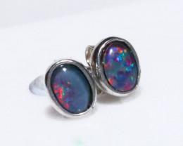Gem Opal triplet Silver Earrings   NA 734