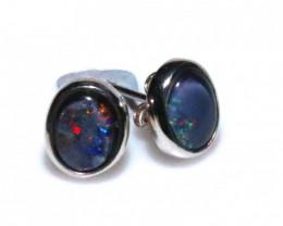 Gem Opal triplet Silver Earrings   NA 735