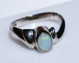 BEAUTIFUL SILVER FIRE OPAL  RING SIZE  Ncode RN04