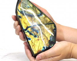1.35Kg Natural Labradorite Polished Self Stand DS356
