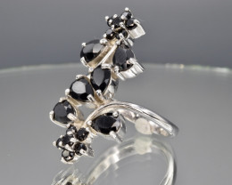 Wild Sapphire sterling silver Ring size O  code  CCC 246a