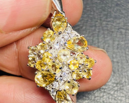 Stunning Citrine  sterling silver Pendant  code  CCC 250