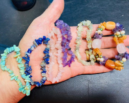 Parcel 6  Attractive gemstone Bracelets CCC 254