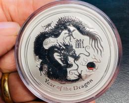 2012 PERTH MINT  AUSTRALIAN DOUBLE  DRAGON TW0 OUNCE COIN