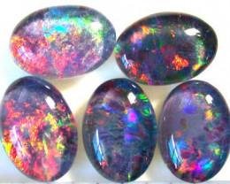3.25 Cts  Parcel of 5  Australian  Black Opal  A210