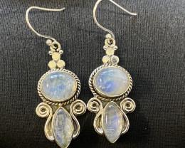 Moonstone Earrings sterling silver code  CCC 257