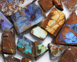 318 Cts Boulder Rough Opal Slabbed by miner code Ch 706