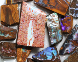 348 Cts Boulder Rough Opal Slabbed by miner code Ch 707