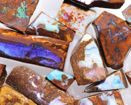 395Cts Boulder Rough Opal Slabbed by miner code Ch 716