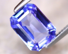1.7 Cts Natural Purplish Blue Tanzanite   Rectangular shape CCC 300