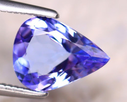 1.5 Cts Natural Purplish Blue Tanzanite   Pear shape CCC 301